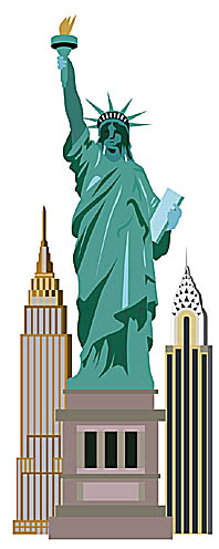 Statue of Liberty New York illustration