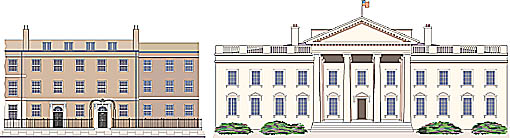Illustration 10 Downing St and White House